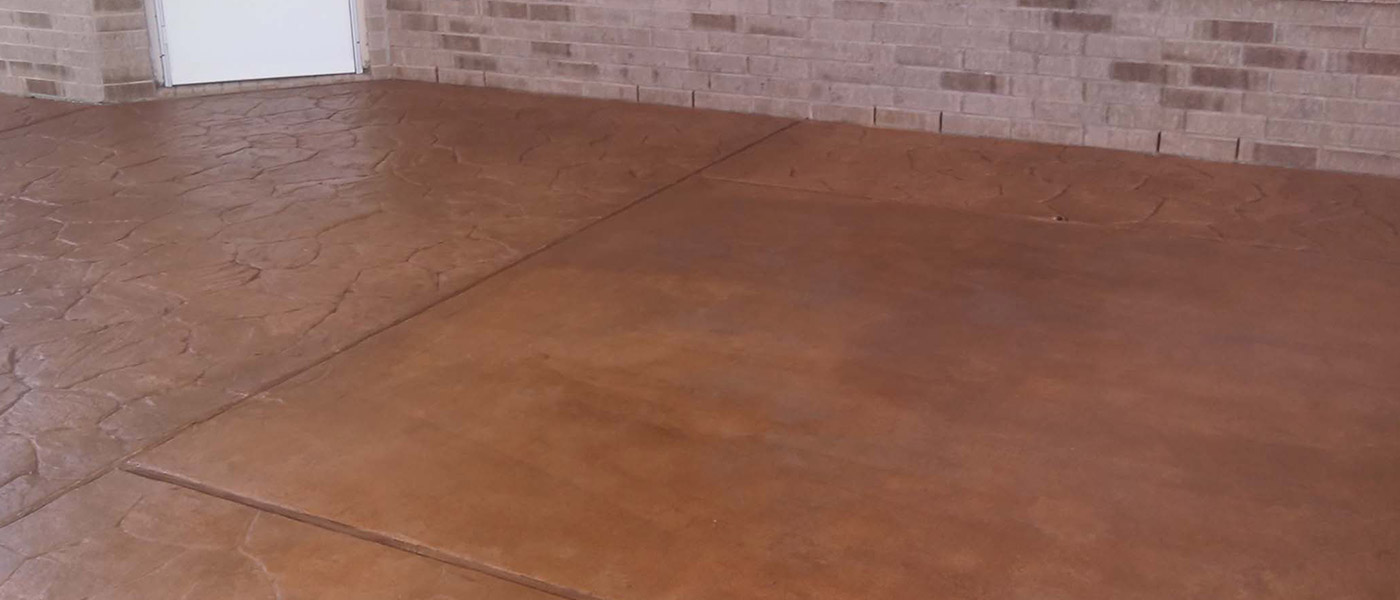 fort worth texas stained concrete